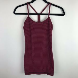 Lululemon Power Y Tank Top Magenta Striped Built